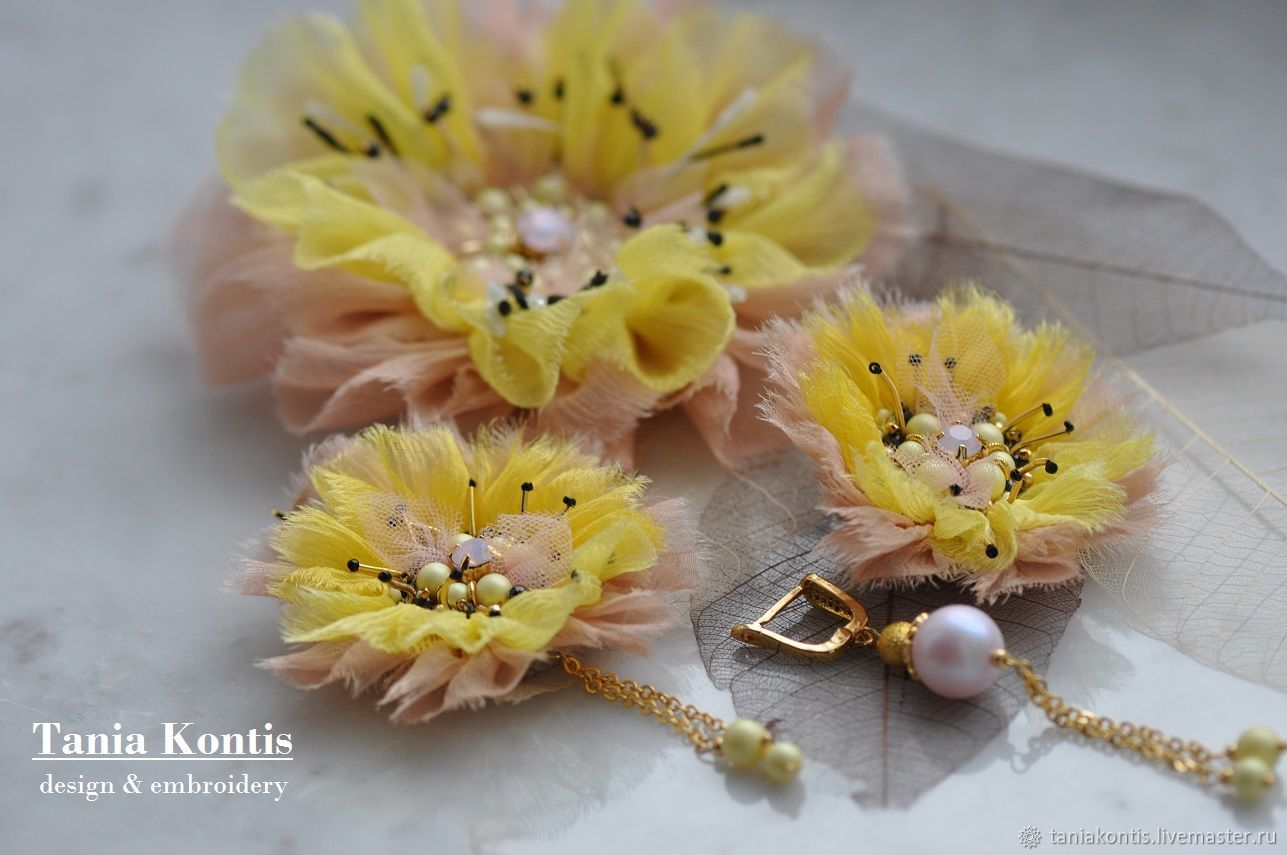 Jewelry set ' Beso del SOL', Brooches, Tver,  Фото №1