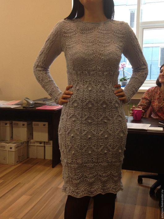 """Платья ручной работы. Ярмарка Мастеров - ручная работа. Купить Платье """"Дымка"""". Handmade. Серый, нарядное платье, ажурное платье"""