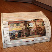 """Для дома и интерьера ручной работы. Ярмарка Мастеров - ручная работа Хлебница """"Французский дворик-2"""". Handmade."""