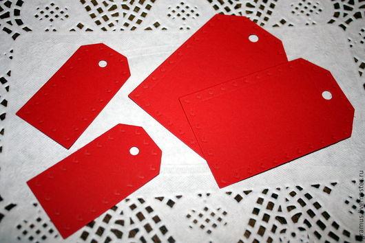 Упаковка ручной работы. Ярмарка Мастеров - ручная работа. Купить Бирки 2-х размеров с сердечками ко дню Святого Валентина. Handmade.