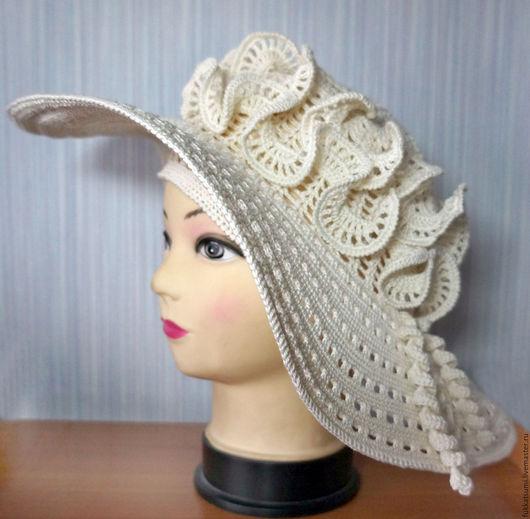 Шляпы ручной работы. Ярмарка Мастеров - ручная работа. Купить Летняя шляпка. Handmade. Бежевый, шляпка, девушке, шляпка с полями