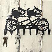 Для дома и интерьера ручной работы. Ярмарка Мастеров - ручная работа Ключница металлическая Для двоих. Handmade.