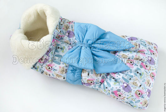 Для новорожденных, ручной работы. Ярмарка Мастеров - ручная работа. Купить Одеяло-трансформер на меху (овчина). Handmade. Одеяло-трансформер