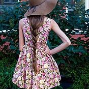 Одежда ручной работы. Ярмарка Мастеров - ручная работа Легкое летнее платье в цветочек. Handmade.