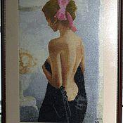 """Картины и панно ручной работы. Ярмарка Мастеров - ручная работа Вышитая картина """" Раздумья"""". Handmade."""