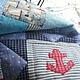 Пледы и одеяла ручной работы. Покрывало Мой капитан. Альфа (alla-art). Интернет-магазин Ярмарка Мастеров. Морской стиль