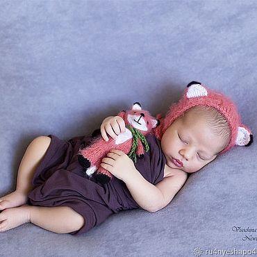 Товары для малышей ручной работы. Ярмарка Мастеров - ручная работа Комплект для фотосессии Лисёнок Реквизит для фотосессии новорожденного. Handmade.