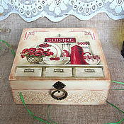 Для дома и интерьера ручной работы. Ярмарка Мастеров - ручная работа Шкатулка , Сuisine .. Handmade.