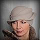 """Шляпы ручной работы. Ярмарка Мастеров - ручная работа. Купить Зимняя дамская шляпка """"Метель. Поздний рассвет"""". Handmade. Серый"""