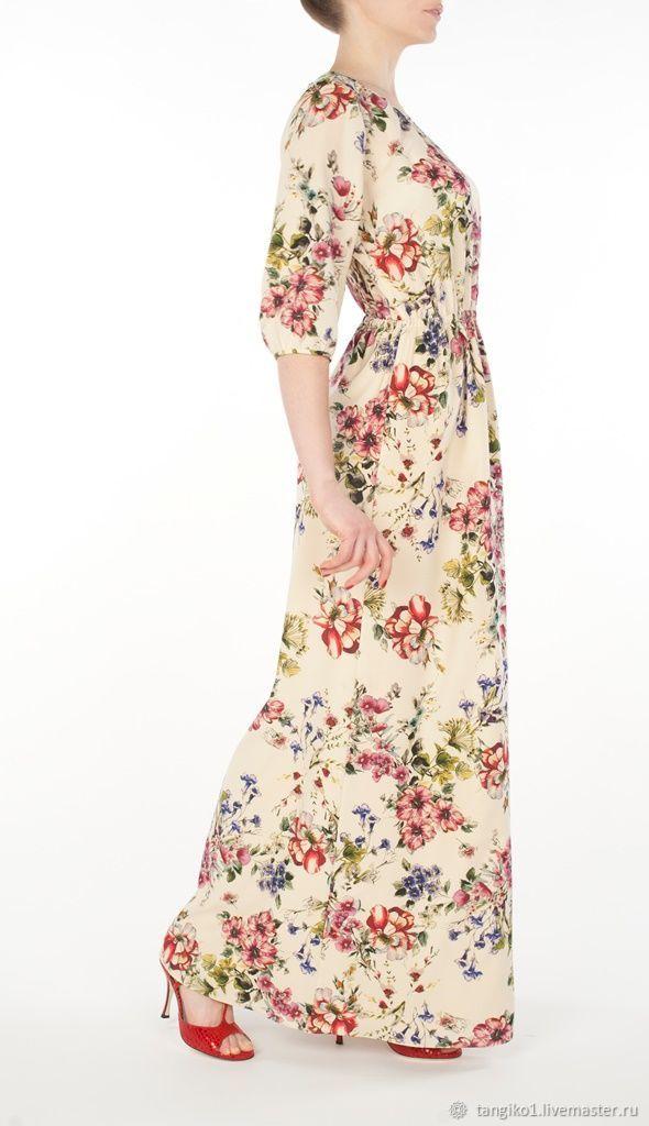 Шелковое платье в пол Flores, Платья, Москва,  Фото №1