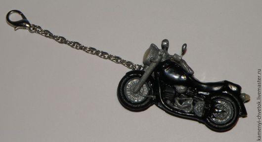 Брелоки ручной работы. Ярмарка Мастеров - ручная работа. Купить Брелок на ключи Мотоцикл. Handmade. Черный, подарок мужчине