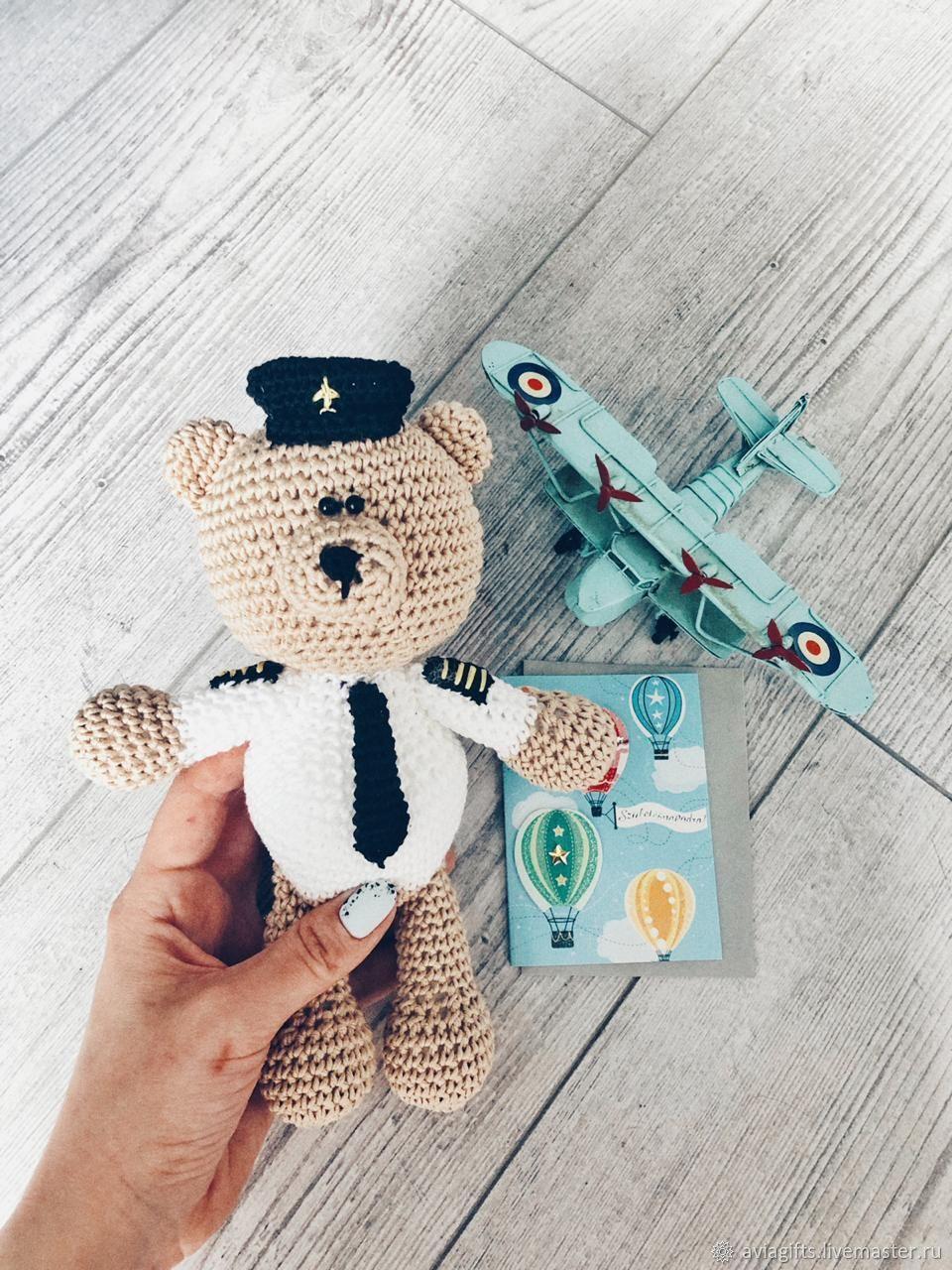d8e7ce8d1589 Интернет-магазин Ярмарка · Мишки Тедди ручной работы. Заказать Мишка-пилот.  Avia Gifts. Ярмарка Мастеров. ...