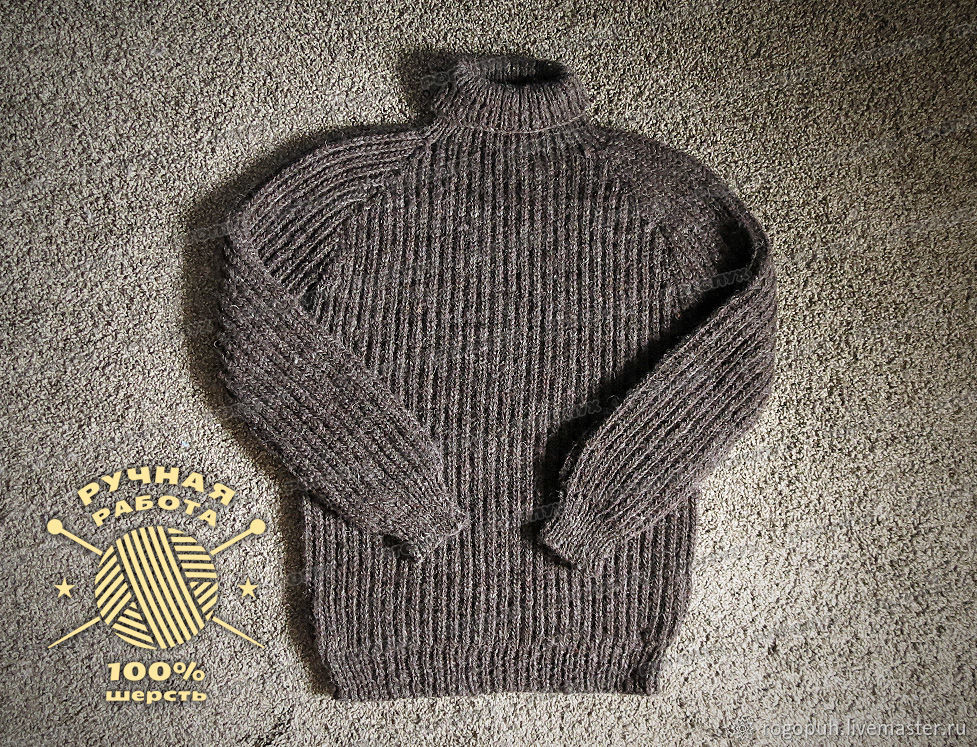Sweater knitted of 100% sheep wool (No. №391), Mens sweaters, Nalchik,  Фото №1