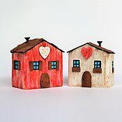 """Статуэтки ручной работы. Ярмарка Мастеров - ручная работа Деревянные домики дрифтвуд """"Дом, где живет любовь"""". Handmade."""