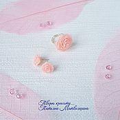 Украшения handmade. Livemaster - original item Rose earrings and ring. Jewelry set with flowers.. Handmade.