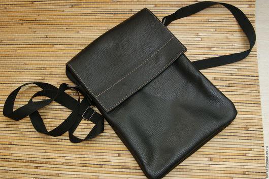 Мужские сумки ручной работы. Ярмарка Мастеров - ручная работа. Купить Мужская сумка. Handmade. Черный, Мужская кожаная сумка
