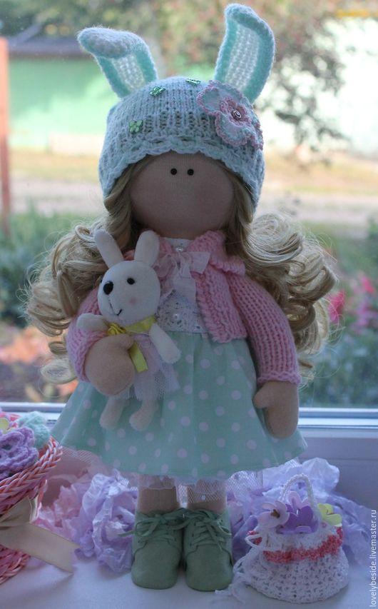 Куклы тыквоголовки ручной работы. Ярмарка Мастеров - ручная работа. Купить Куколка-малышка Милана. Handmade. Мятный, подарок