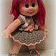 Человечки ручной работы. Вязаная кукла Лора.. IRINA KOREN. Интернет-магазин Ярмарка Мастеров. Кукла ручной работы, синтепух