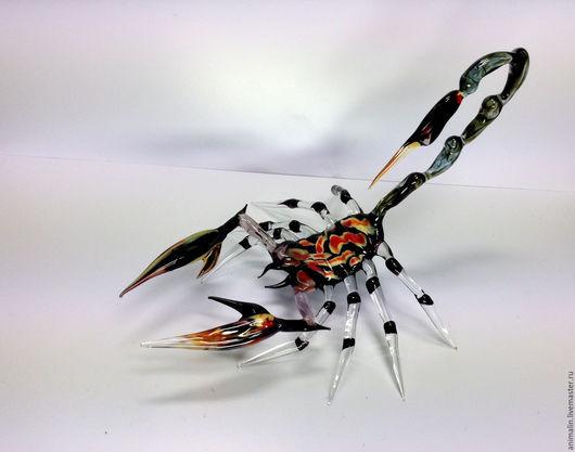 Статуэтки ручной работы. Ярмарка Мастеров - ручная работа. Купить Интерьерная скульптура из стекла - страж Запада Скорпион Антарес. Handmade.