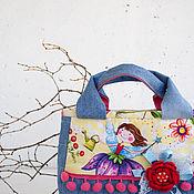 Сумки и аксессуары ручной работы. Ярмарка Мастеров - ручная работа Сумочка для девочки, джинсовая сумка. Handmade.