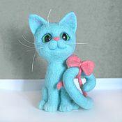 Куклы и игрушки ручной работы. Ярмарка Мастеров - ручная работа Кошка Завитушка. Интерьерная игрушка. Handmade.