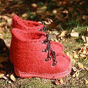 Обувь ручной работы. Ярмарка Мастеров - ручная работа Валяные ботинки детские. Handmade.