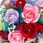 """Цветы и флористика ручной работы. Ярмарка Мастеров - ручная работа """"Знак внимания"""" Букет из конфет. Handmade."""
