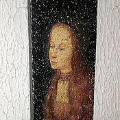 """Картины ручной работы. Ярмарка Мастеров - ручная работа Панно деревянное """"Святая Варвара"""" W0376. Handmade."""
