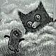 """Футболки, майки ручной работы. Ярмарка Мастеров - ручная работа. Купить Футболки """"Ёжик в тумане с совой"""". Handmade. Рисунок, мультяшки"""