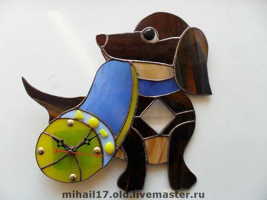 "Часы для дома ручной работы. Ярмарка Мастеров - ручная работа. Купить настенные часы  ""Такса"". Handmade. Часы, часы настенные"