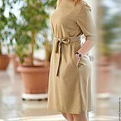 Одежда handmade. Livemaster - original item dress of fine wool with lace on the belt. Handmade.