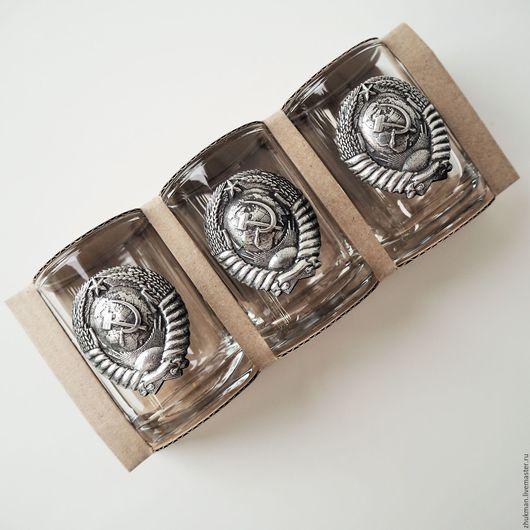 """Подарки для мужчин, ручной работы. Ярмарка Мастеров - ручная работа. Купить Набор """"Герб Советского Союза"""" на троих в упаковке из крафт-картона. Handmade."""