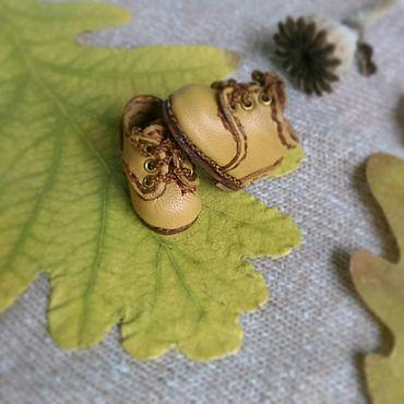 Куклы и игрушки ручной работы. Ярмарка Мастеров - ручная работа Ботинки дерби для блайз песочные Размер 28мм. Handmade.
