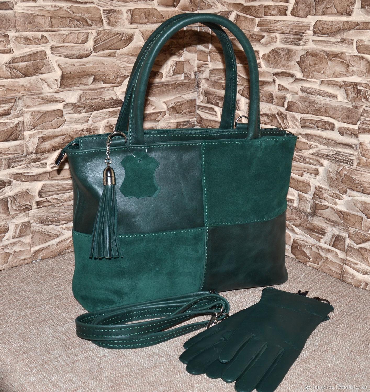 Model 1012 Bag women's leather tote Bag made of genuine leather, Classic Bag, Bogorodsk,  Фото №1