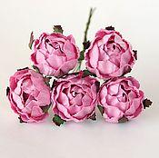 Материалы для творчества ручной работы. Ярмарка Мастеров - ручная работа 5 расцветок Цветы ранункулюсов 1 шт. Handmade.
