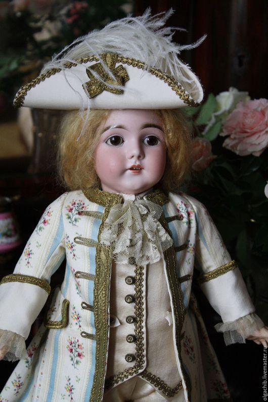 """Одежда для кукол ручной работы. Ярмарка Мастеров - ручная работа. Купить """"Маскарадный"""" костюм  для антикварной куклы. Handmade. Антикварная кукла"""