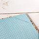 Папка для свидетельства `Васильки` Внутри папки для свидетельства качественная скрапбумага, справа сделаны уголки, в которые вставляется свидетельство.