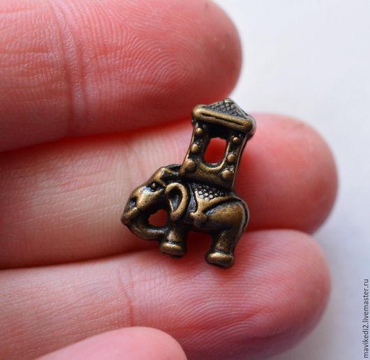 """Для украшений ручной работы. Ярмарка Мастеров - ручная работа. Купить бусина """"Индийский слон""""/ античная бронза. Handmade."""