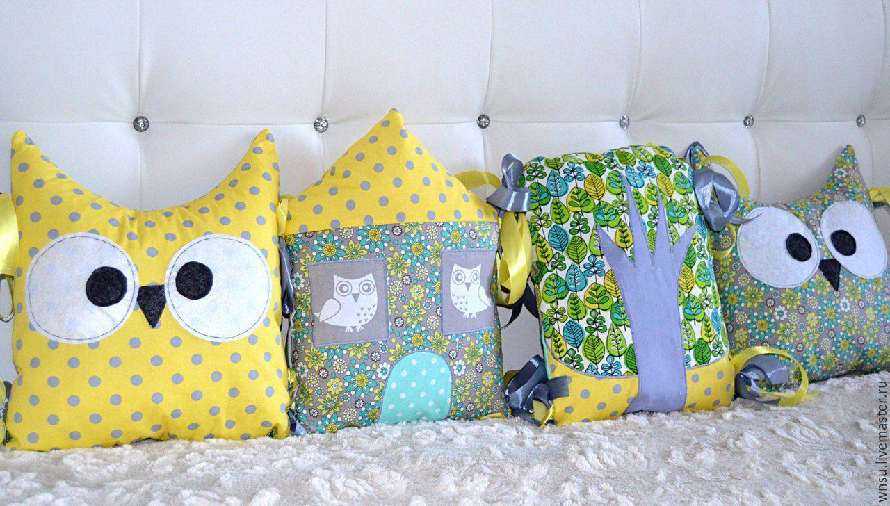 Подушка в детскую кроватку сшить самой фото 993