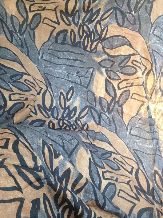 Шитье ручной работы. Ярмарка Мастеров - ручная работа. Купить Лён Осенний лист . Италия. Handmade. Комбинированный, Платье нарядное