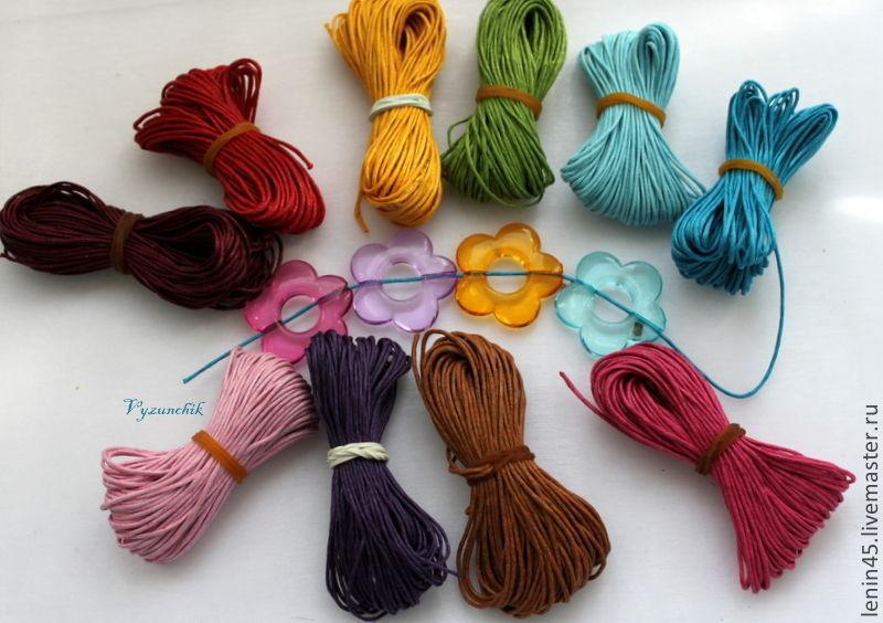 Вощеный шнур 24 цвета, Шнуры, Стерлитамак,  Фото №1