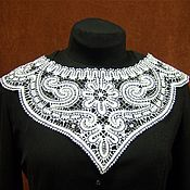 Материалы для творчества handmade. Livemaster - original item Lace insert for clothing. Handmade.