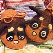 """Обувь ручной работы. Ярмарка Мастеров - ручная работа Тапочки """"Шмелики"""". Handmade."""