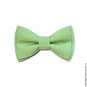 Аксессуары ручной работы. Ярмарка Мастеров - ручная работа Галстук-бабочка светло-зеленый из хлопка. Handmade.