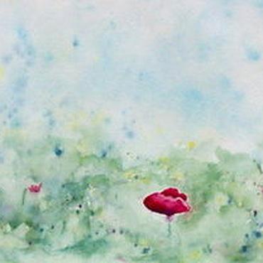 """Картины и панно ручной работы. Ярмарка Мастеров - ручная работа """"Маковое поле. Утро"""". Handmade."""