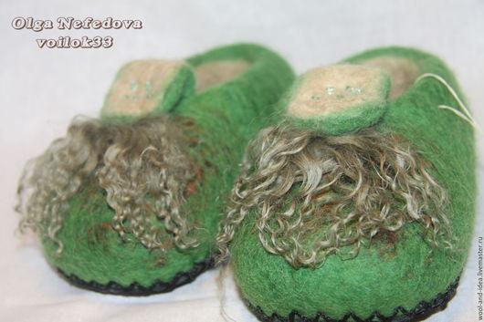"""Обувь ручной работы. Ярмарка Мастеров - ручная работа. Купить Детские тапочки """"Краски лета"""". Handmade. Валяние, сделано с любовью"""