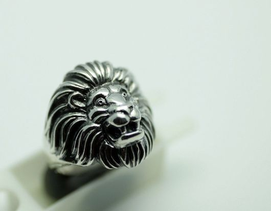 """Кольца ручной работы. Ярмарка Мастеров - ручная работа. Купить Кольцо """"Большой лев"""". Handmade. Лев, серебро, кольцо лев"""