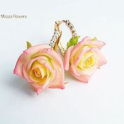 Украшения handmade. Livemaster - original item Earrings with roses