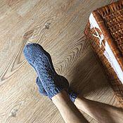 Аксессуары ручной работы. Ярмарка Мастеров - ручная работа Хлопковые Slippersocks Джинсовые. Handmade.