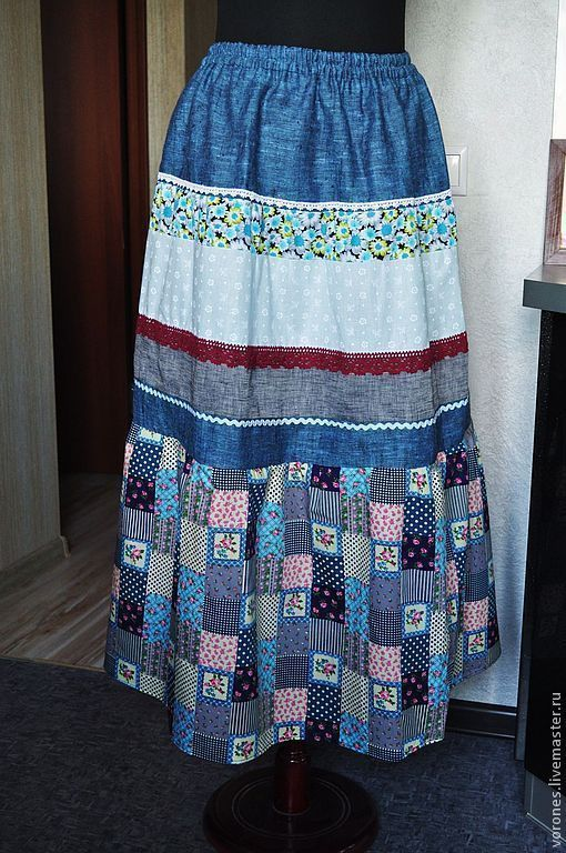 Summer skirt 'Granny's chest', Skirts, Moscow,  Фото №1